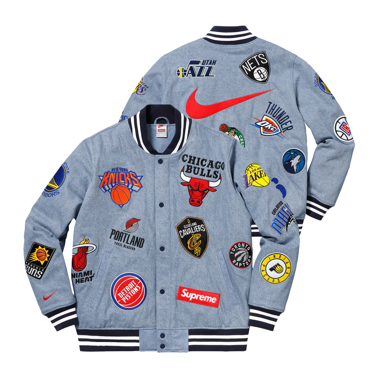 Supreme Nike NBA Teams Warm-Up Jacket Denim  ba7b7a131