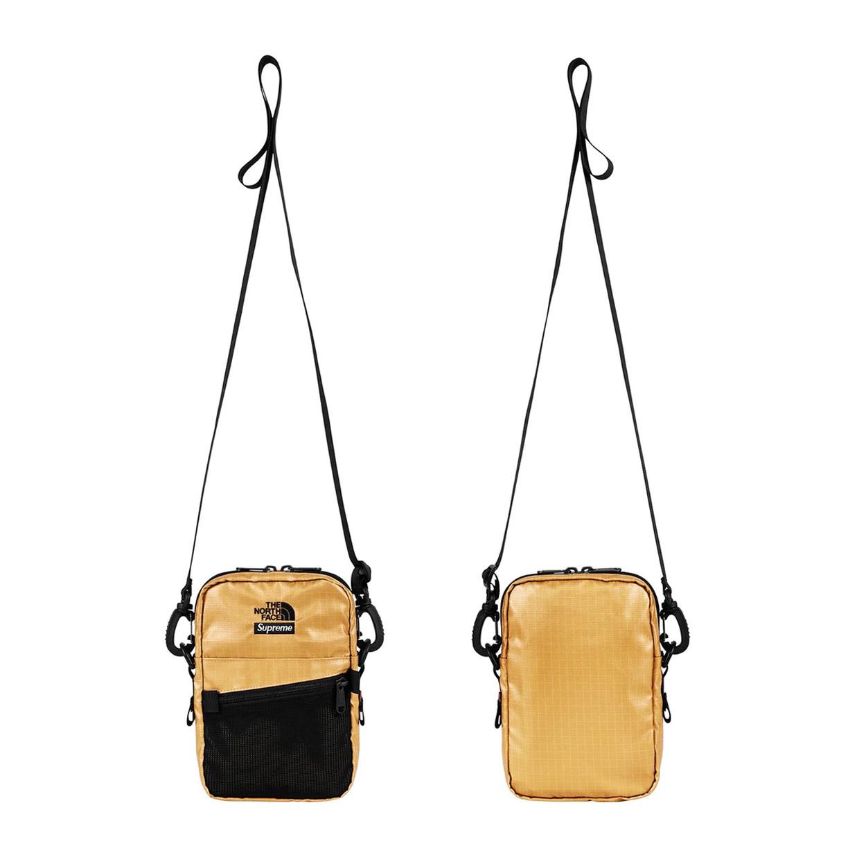 bd9325830 Supreme The North Face Metallic Shoulder Bag Gold