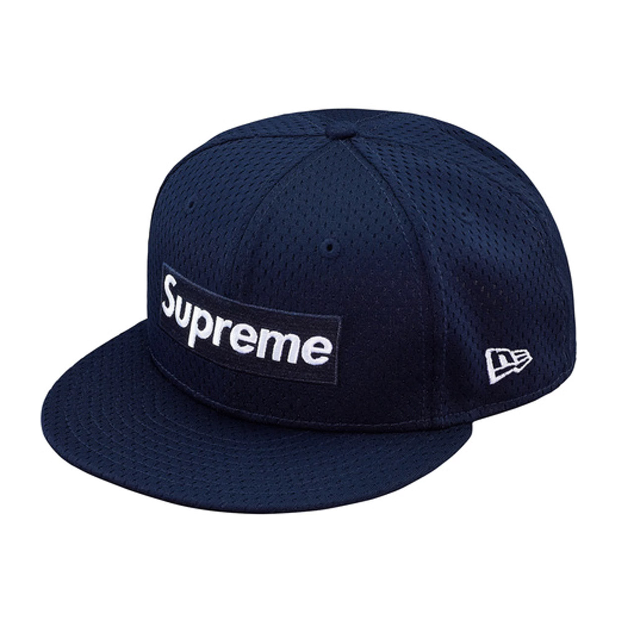 Supreme New Era Mesh Box Logo Cap Navy  cab8bb2b8