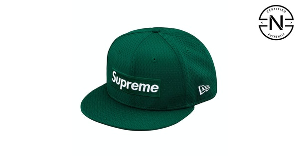 Supreme New Era Mesh Box Logo Cap Dark Green  731d22f1b10