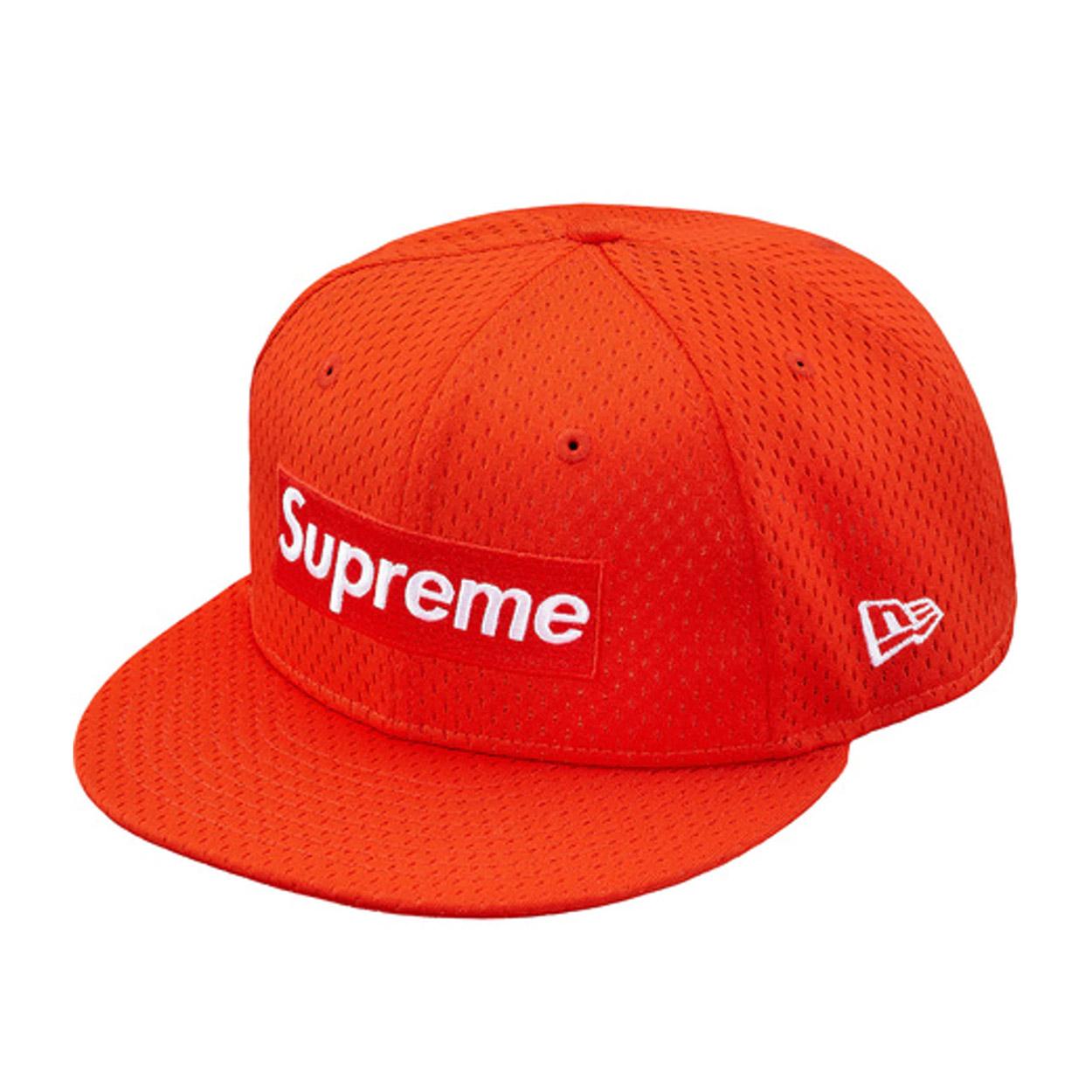 Supreme New Era Mesh Box Logo Cap Orange  5e02db178c3