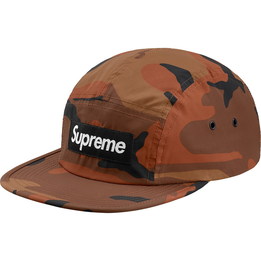 b110f1e3b2385 Supreme Reflective Camo Camp Cap Orange