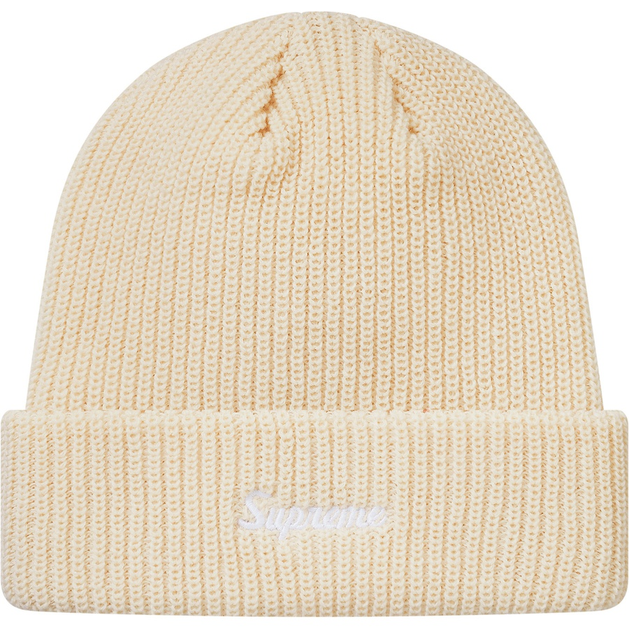 70a55559418 Supreme FW18 Loose Gauge Beanie Natural. Condition  Brand New 100%  Authentic. One-size