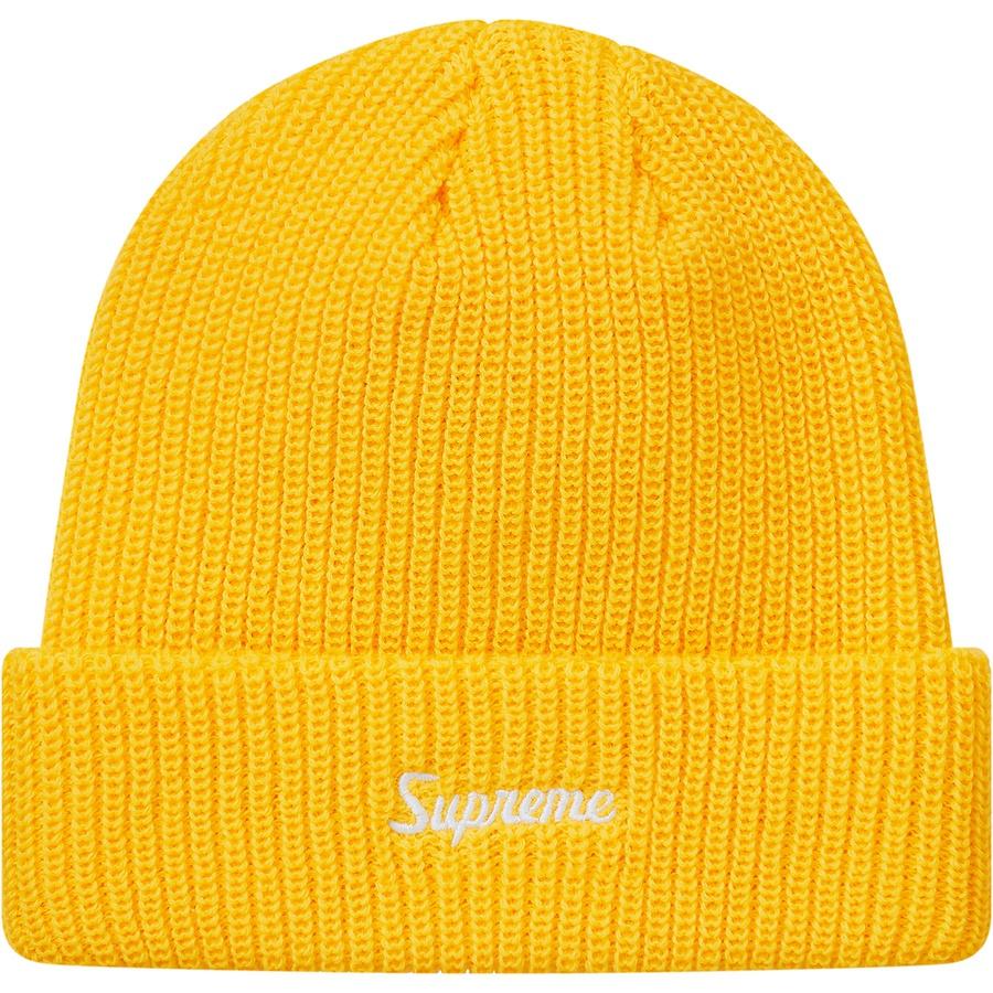 7d0b2b8b4e778 Supreme FW18 Loose Gauge Beanie Yellow