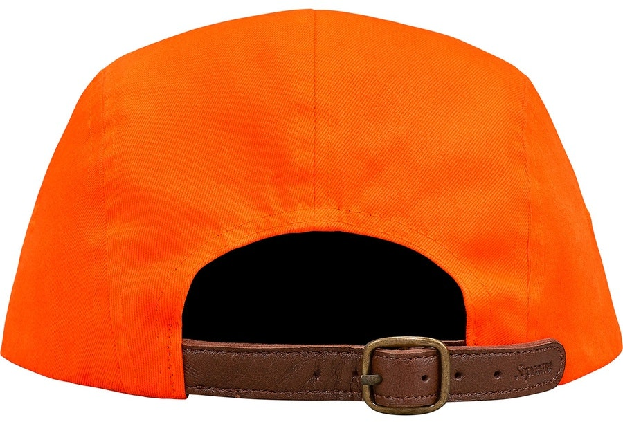 best service 742fc 973d4 Supreme Washed Chino Twill Camp Cap FW18 Orange
