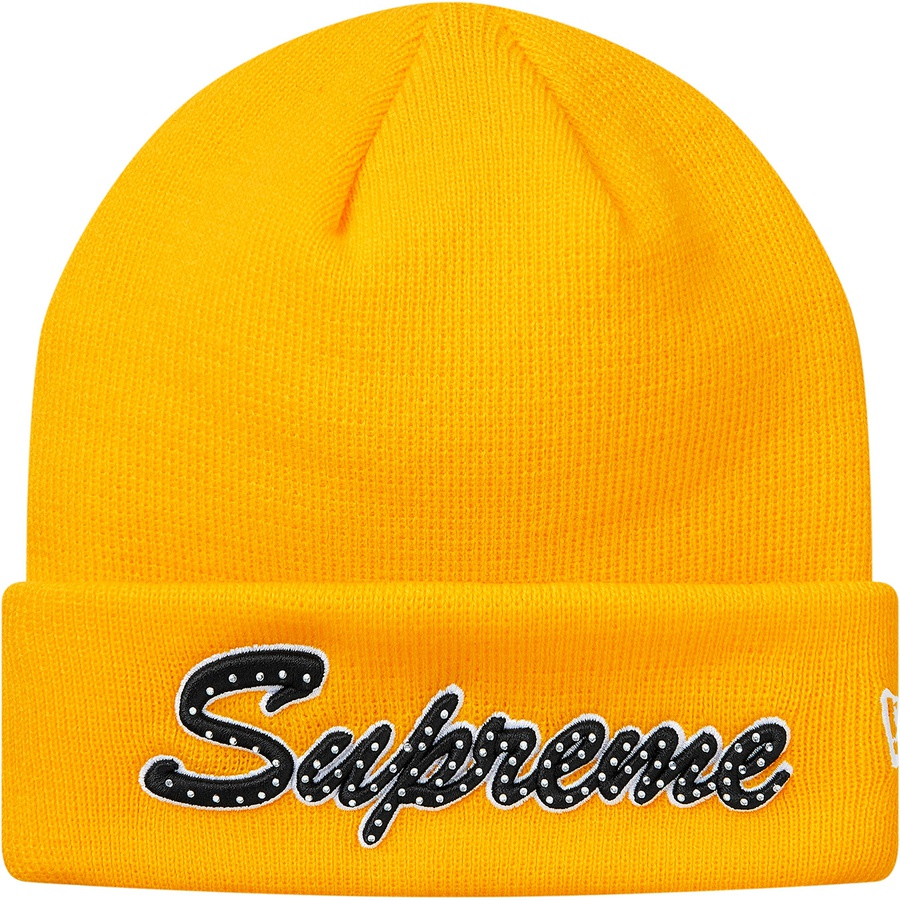 2db99be8b39 Supreme New Era Script Beanie FW18 Yellow