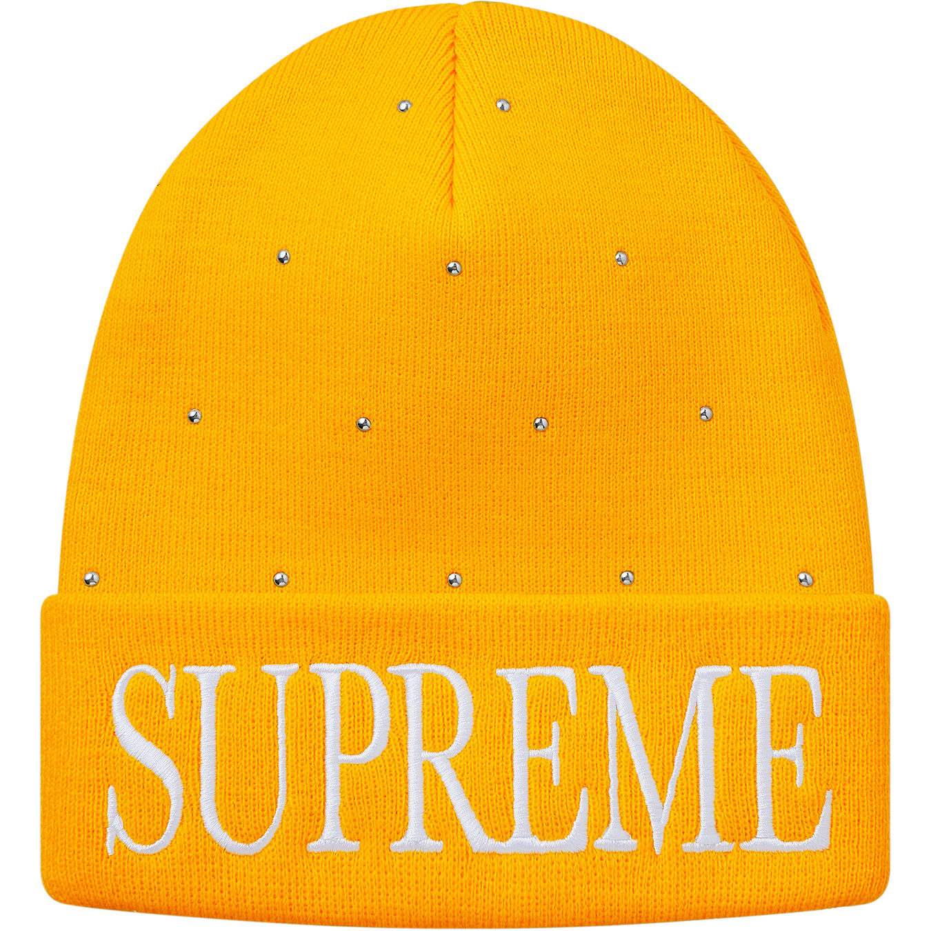 afe8f9f6 Supreme Studded Beanie Yellow | Novelship: Buy and Sell Sneakers,  Streetwear, 100% Authentic