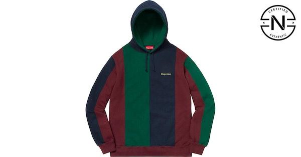 b720b3766d0 Supreme Tricolor Hooded Sweatshirt Burgundy