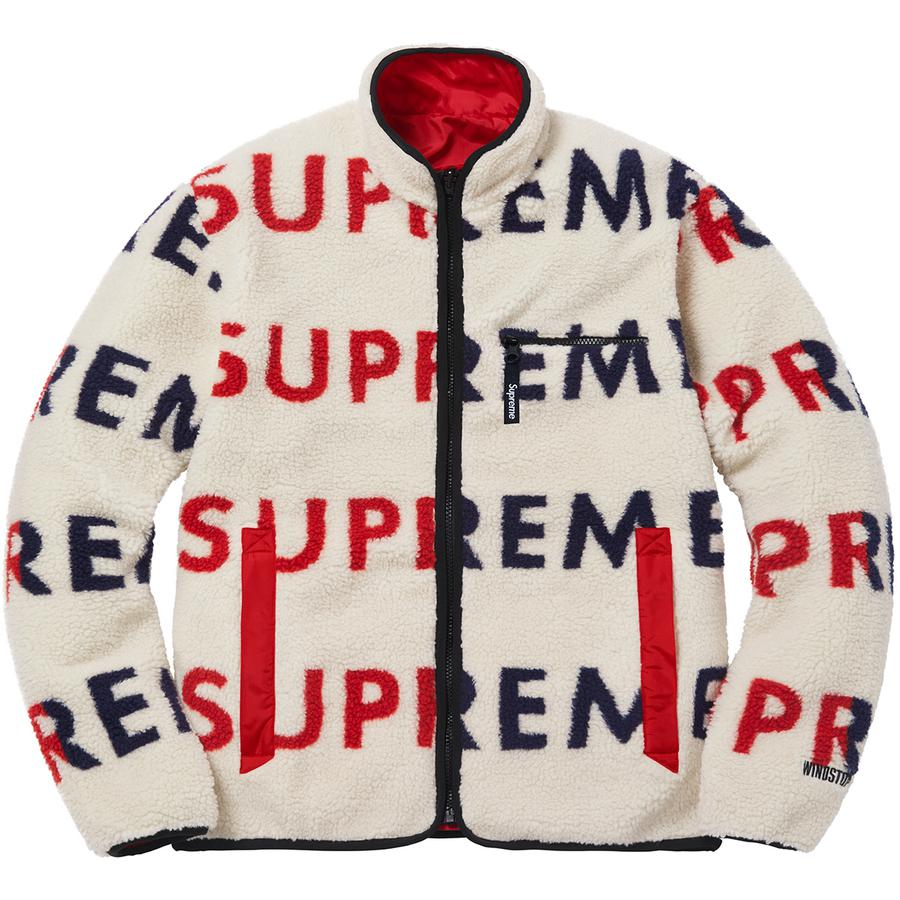 Supreme Reversible Logo Fleece Jacket Natural Novelship And Sneakers Streetwear 100 Authentic