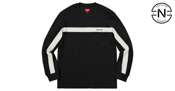 6bcac0c632 Supreme Panel Stripe Waffle Thermal Black | Novelship: Buy and Sell  Sneakers, Streetwear, 100% Authentic