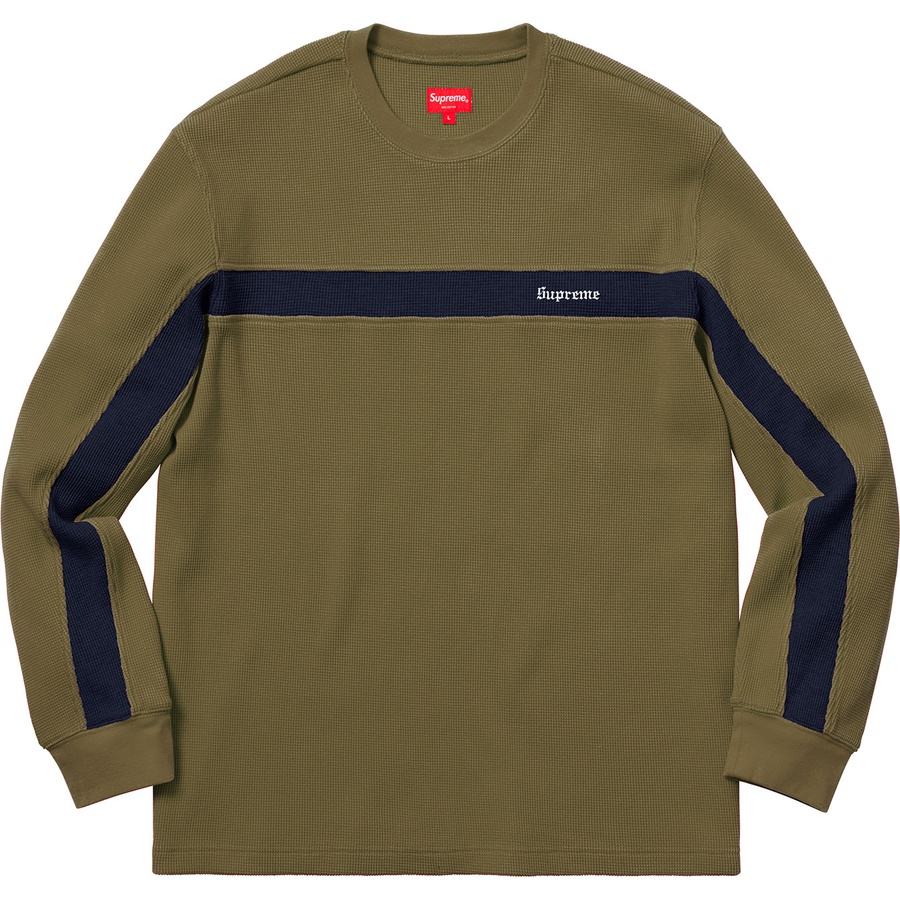 88510e005a Supreme Panel Stripe Waffle Thermal Olive | Novelship: Buy and Sell  Sneakers, Streetwear, 100% Authentic