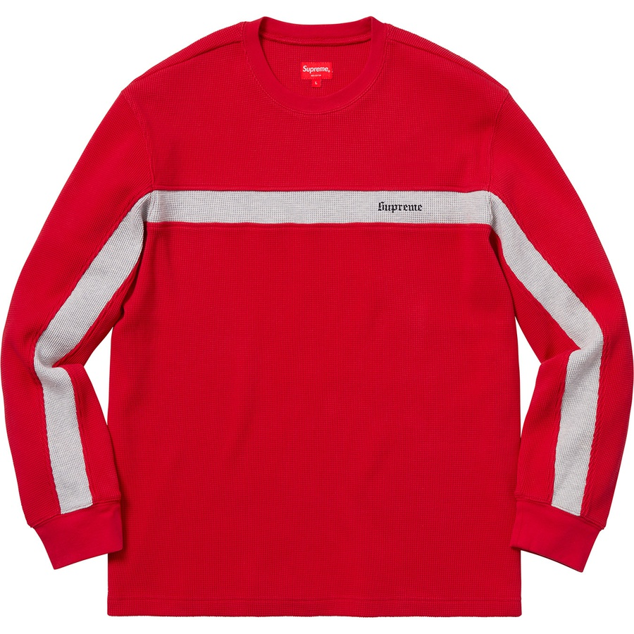 6ce80527d2 Supreme Panel Stripe Waffle Thermal Red | Novelship: Buy and Sell Sneakers,  Streetwear, 100% Authentic