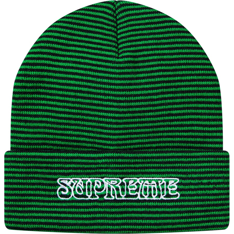 d3338c12 Supreme Small Stripe Beanie Green | Novelship: Buy and Sell Sneakers,  Streetwear, 100% Authentic