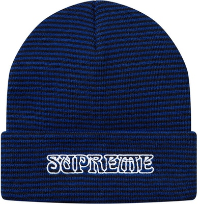 844a4fd23 Supreme Small Stripe Beanie Royal