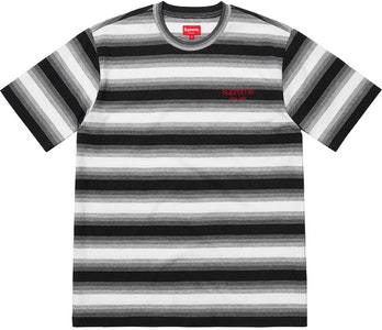 ef6b2a63 Supreme HQ Stripe SS Top Black | Novelship: Buy and Sell Sneakers ...