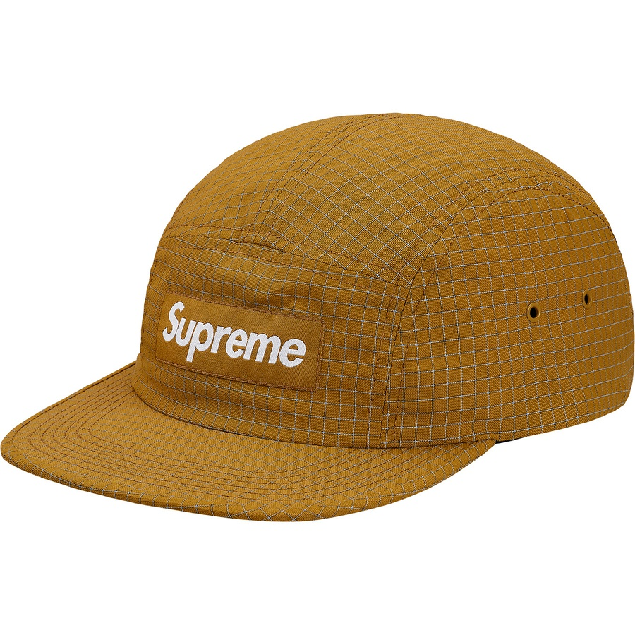 070b31df8d2 Supreme Reflective Ripstop Camp Cap Gold