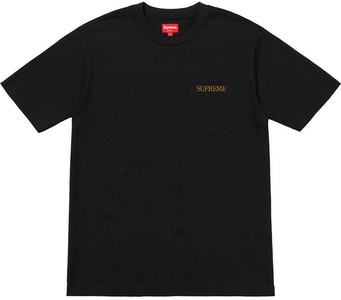 ce5f522c Supreme Embroidered Pocket Tee Red   Novelship: Buy and Sell ...