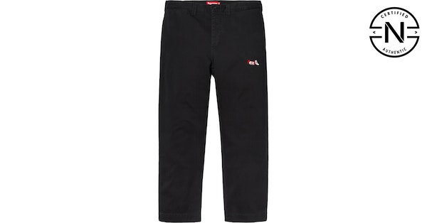 Supreme Cat In The Hat Chino Pant Black  84106db2d182