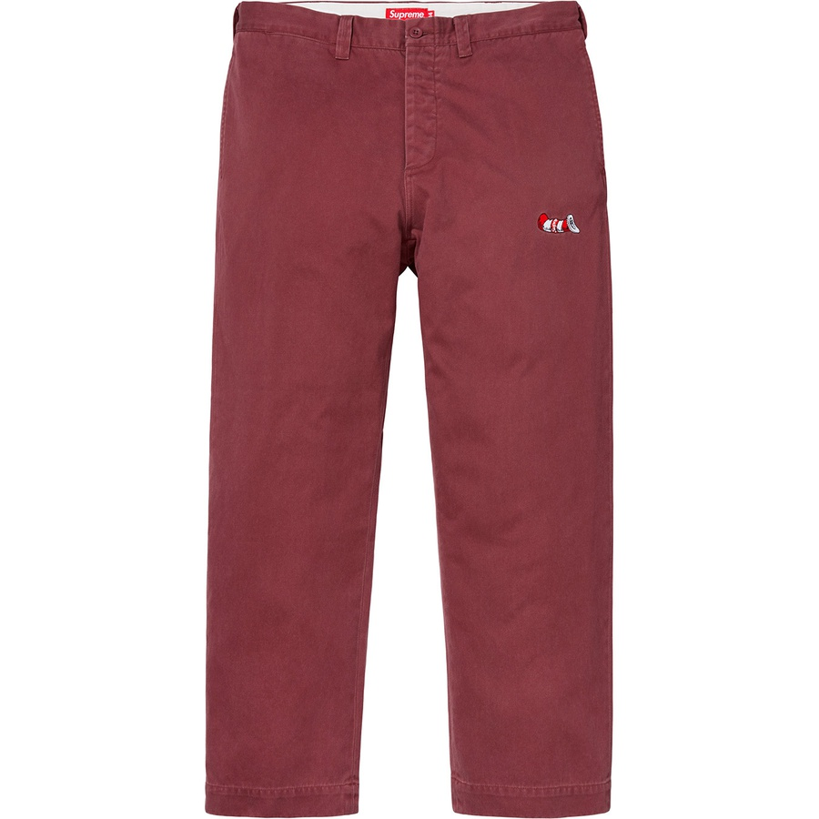 Supreme Cat In The Hat Chino Pant Burgundy  314d0311ba2e