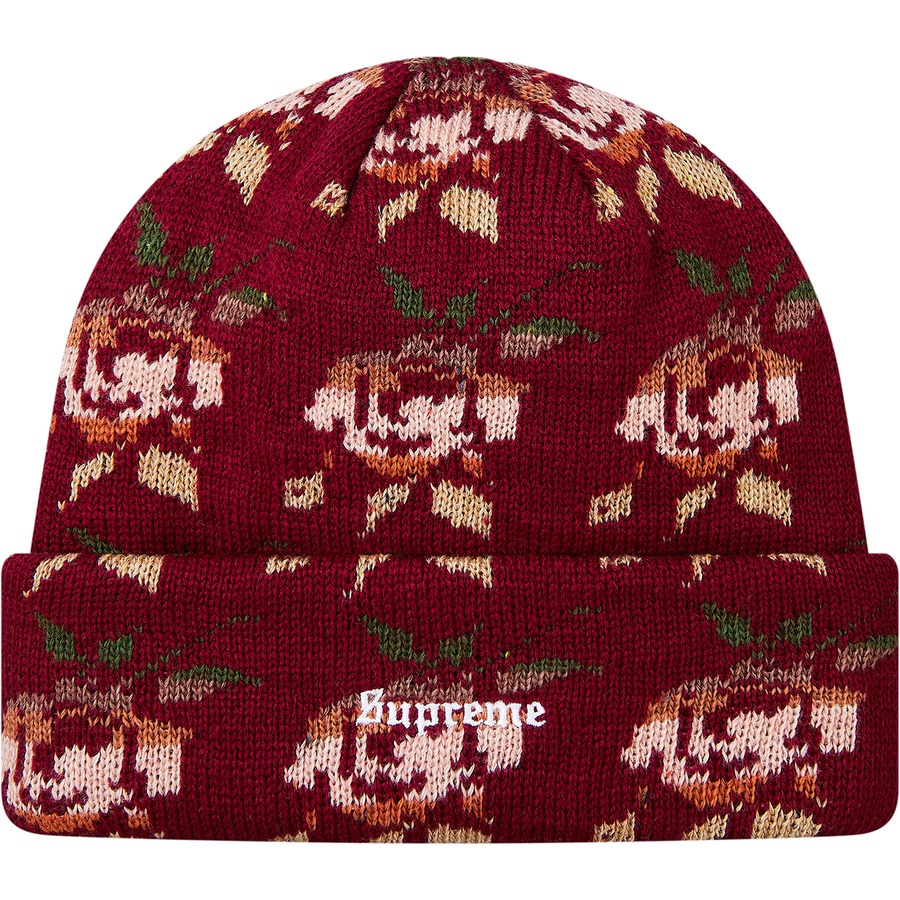 c094051d852 Supreme Rose Jacquard Beanie Burgundy. Condition  Brand New 100% Authentic