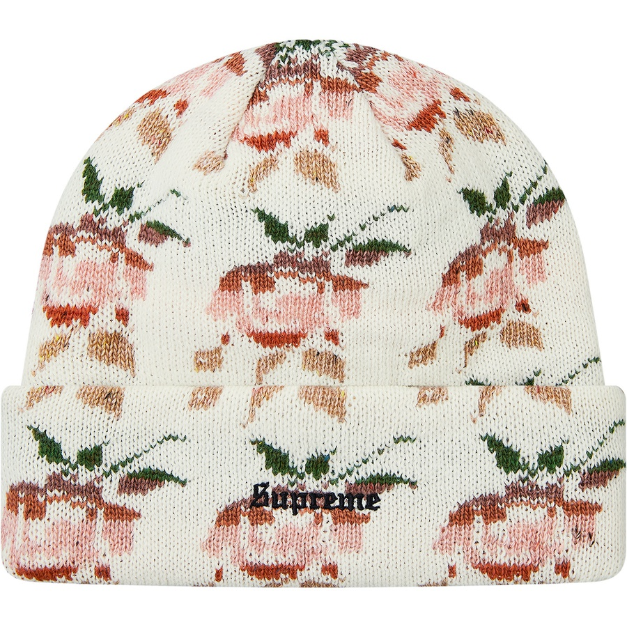 41eb039cb4104 Supreme Rose Jacquard Beanie Natural