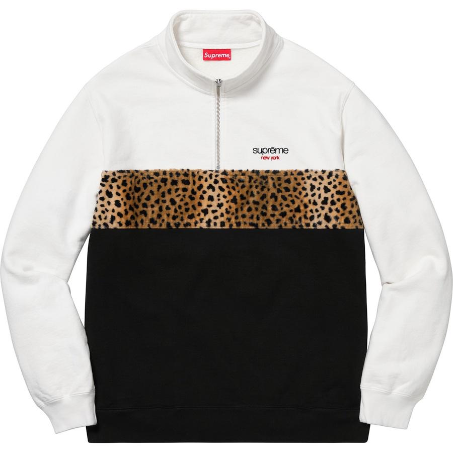 a23b0946d34c Supreme Leopard Panel Half Zip Sweatshirt White