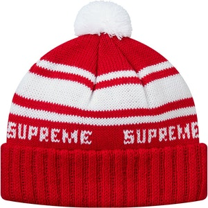 4be9d143b36 Supreme Classic Stripe Beanie Red. Lowest List