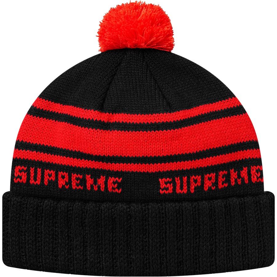 3d62572420f Supreme Classic Stripe Beanie Black