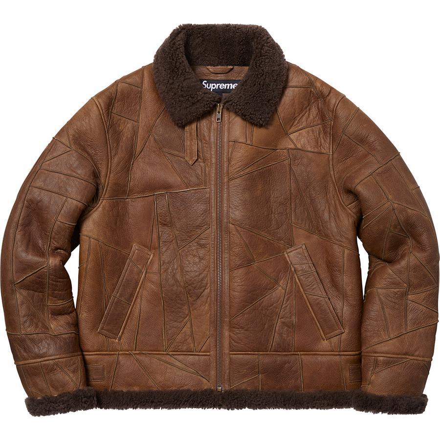 85d28003b Supreme Patchwork Shearling B3 Jacket Brown