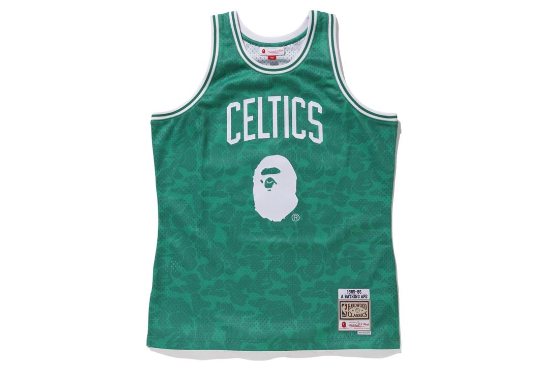 9f490d39c Bape Mitchell   Ness Celtics ABC Basketball Swingman Jersey Green ...