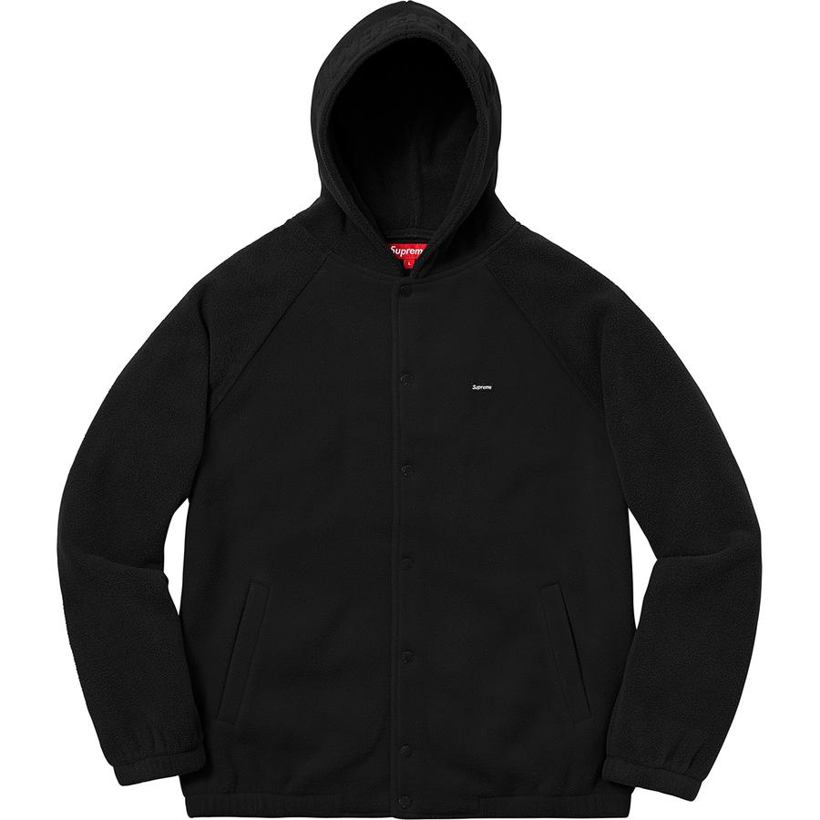 Supreme Polartec Hooded Raglan Jacket Black  6eea77dce