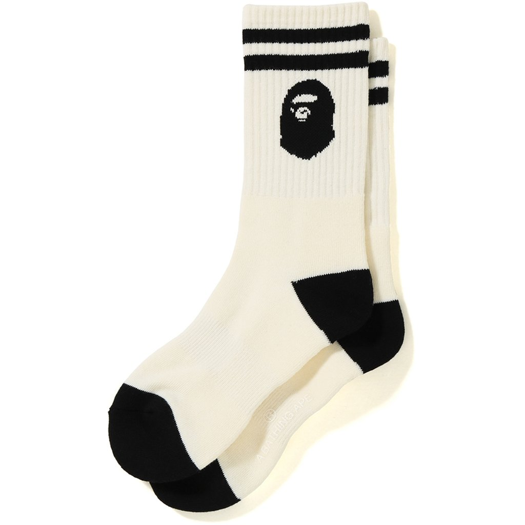 save off bbf8d 2d035 Bape Ape Head Socks White   Novelship  Buy and Sell Sneakers, Streetwear,  100% Authentic