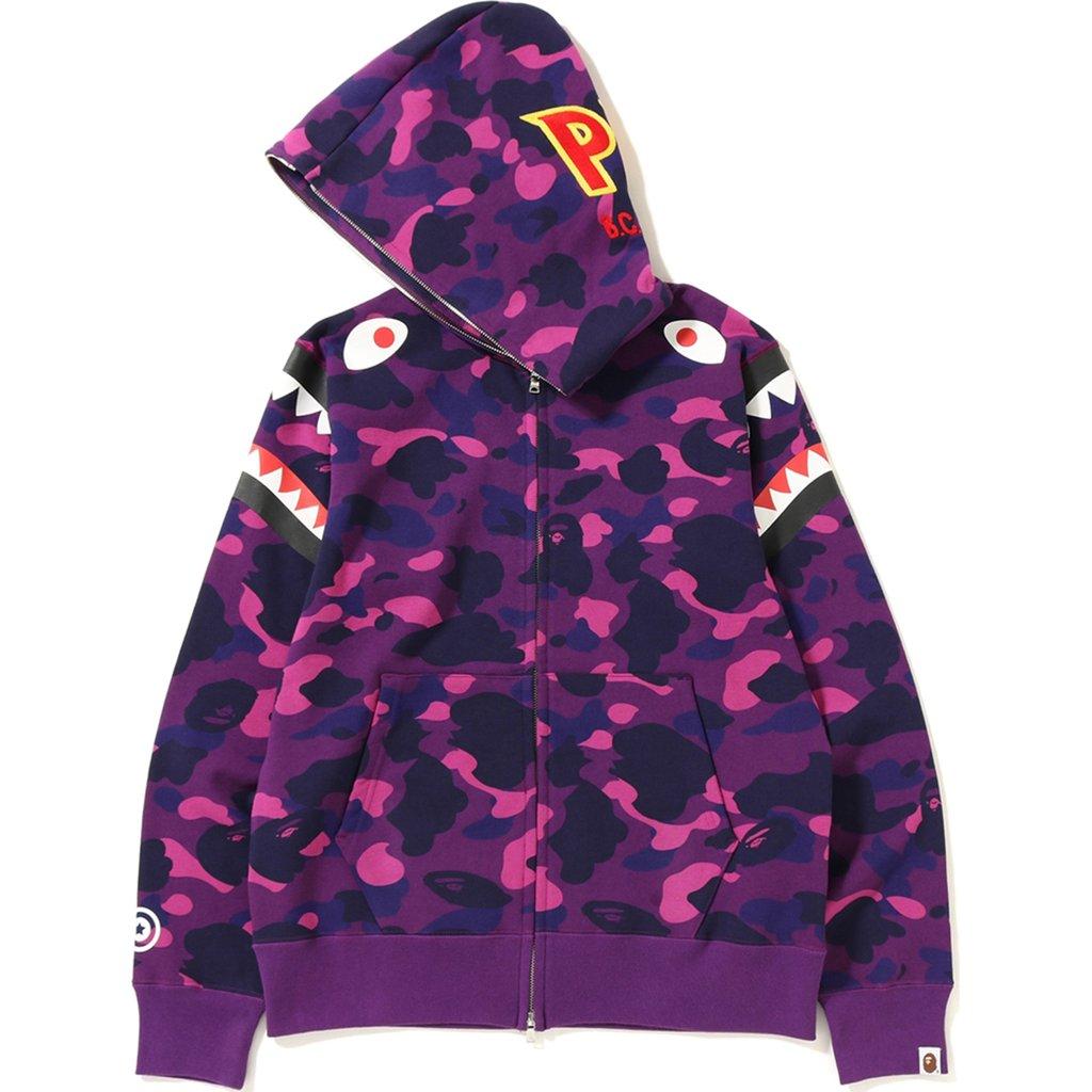 c8e4f8c96ea03 Bape Color Camo Double Shark Full Zip Hoodie Purple | Novelship: Buy ...