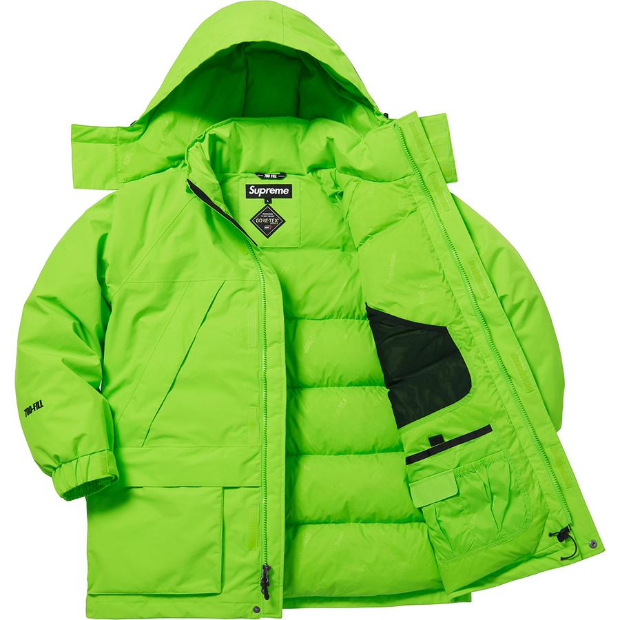 Supreme GORE TEX 700 Fill Down Parka Lime