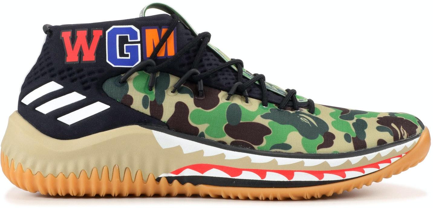 3bd7e07922557 Adidas Bape Dame 4 Green Camo | Novelship: Buy and Sell Sneakers ...