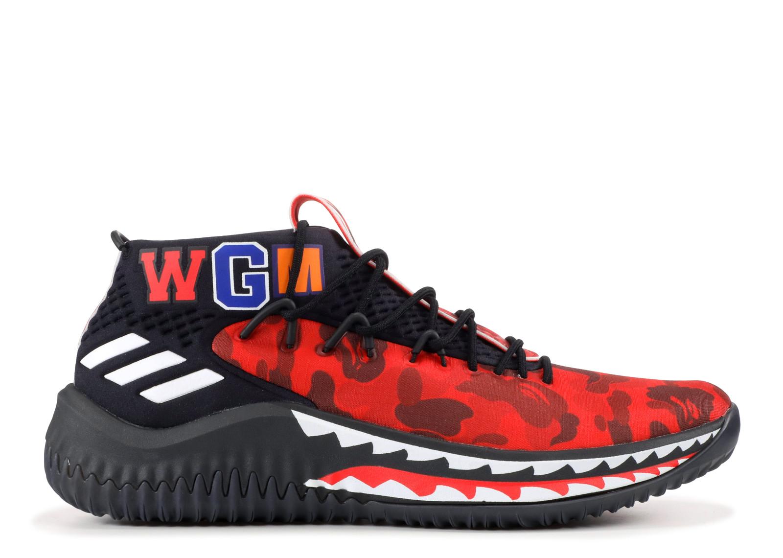 Adidas Bape Dame 4 Red Camo  9b1ca9afd