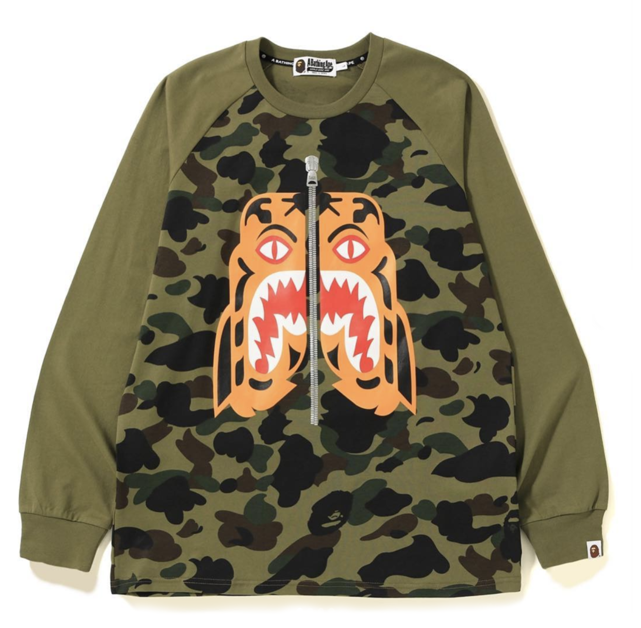 1e4bf487 Bape 1st Camo Tiger LS Tee Green | Novelship: Buy and Sell Sneakers,  Streetwear, 100% Authentic