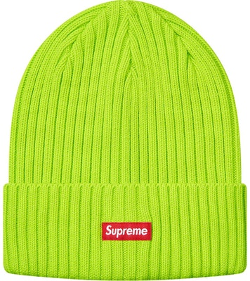 9bfe50f36 Supreme Overdyed Beanie Lime