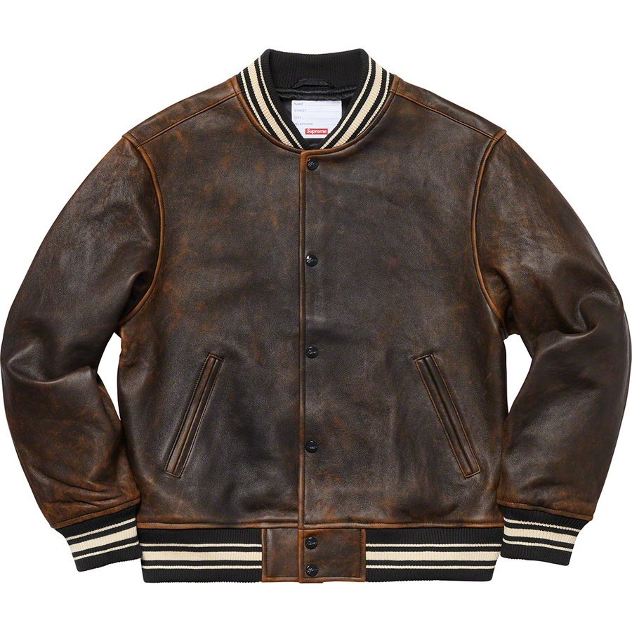 Supreme Leather Varsity Jacket Black Novelship And Sneakers Streetwear 100 Authentic