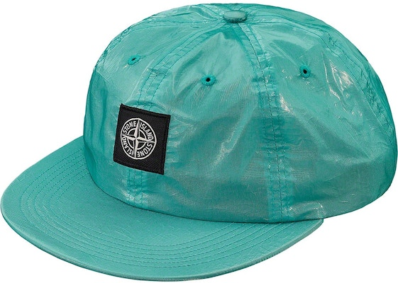 138095c12 Supreme Stone Island New Silk Light 6-Panel Light Blue