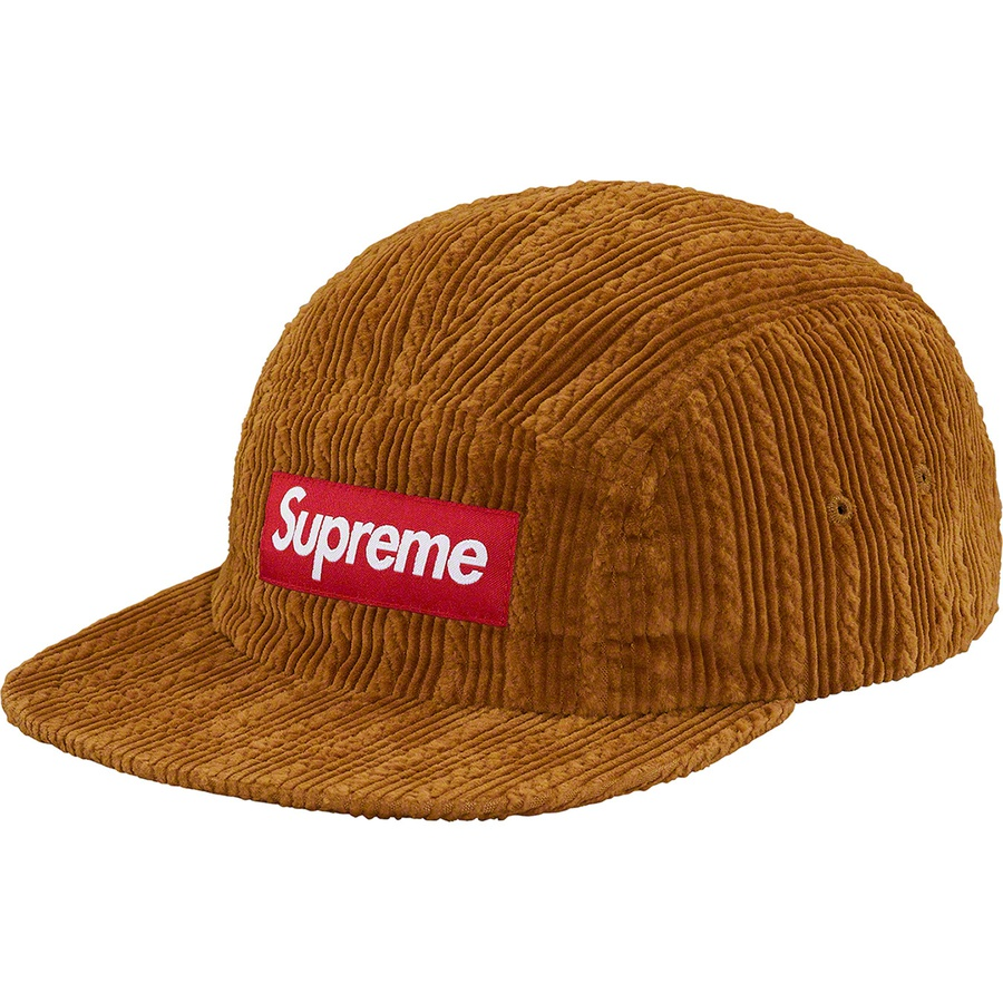 d0abb6cfddc Supreme Rope Corduroy Camp Cap Brown