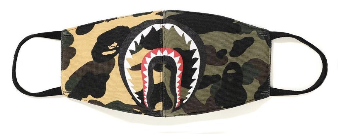 b4a3aebb Bape Half Camo Shark Mask Multicolor | Novelship: Buy and Sell ...