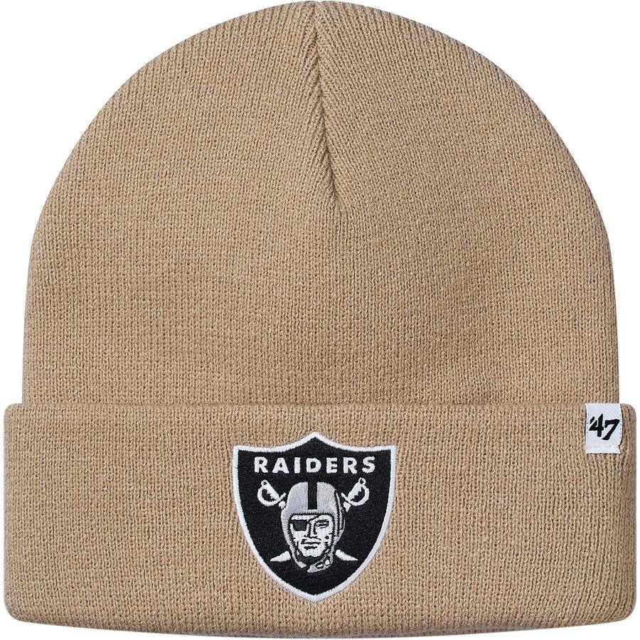 7cbd967d147 Supreme NFL Raiders 47 Brand Beanie Tan