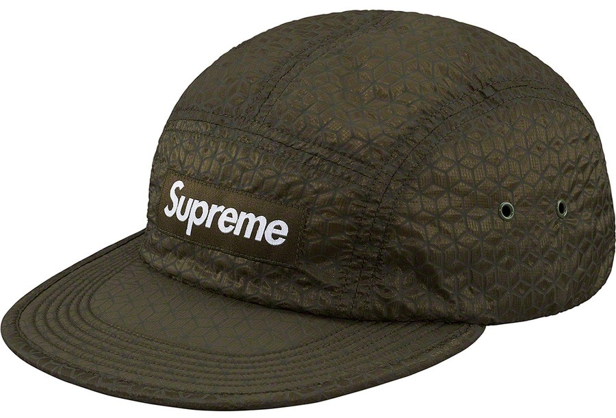 fb72ca1a Supreme Geometric Ripstop Camp Cap Olive | Novelship: Buy and Sell ...