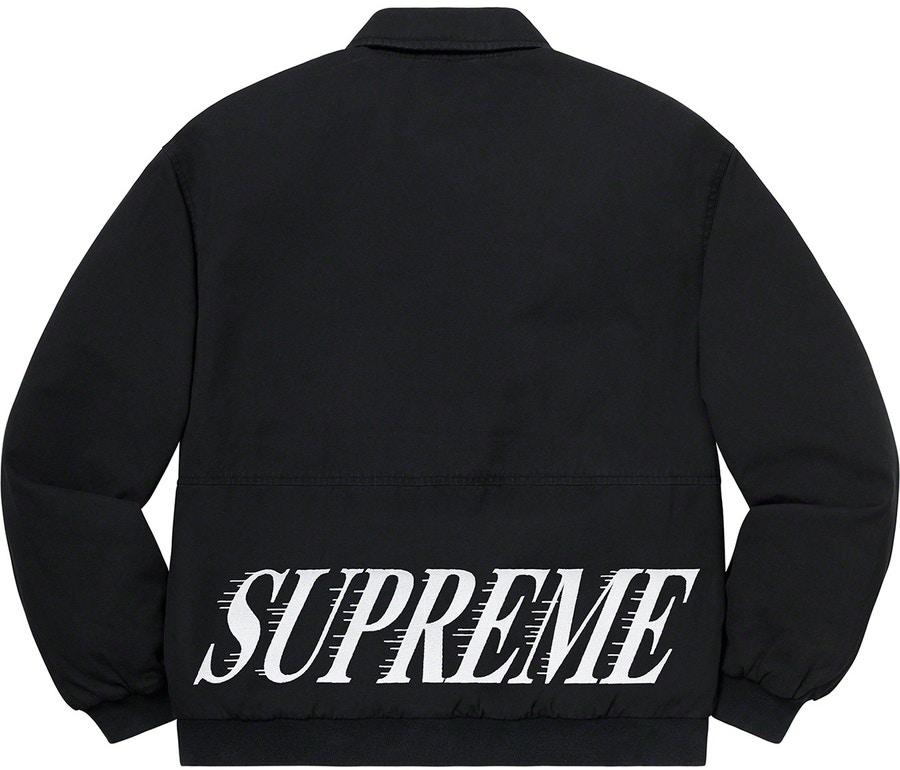 Supreme Twill Varsity Varsity Jacket Black - Novelship