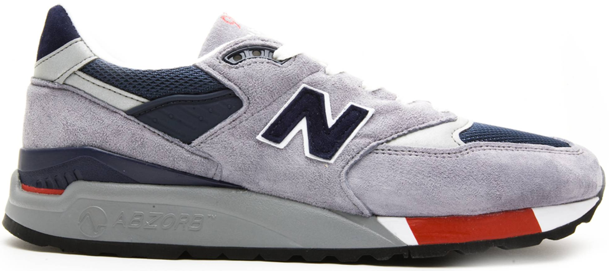 New Balance 998 Grey Navy Red - Novelship