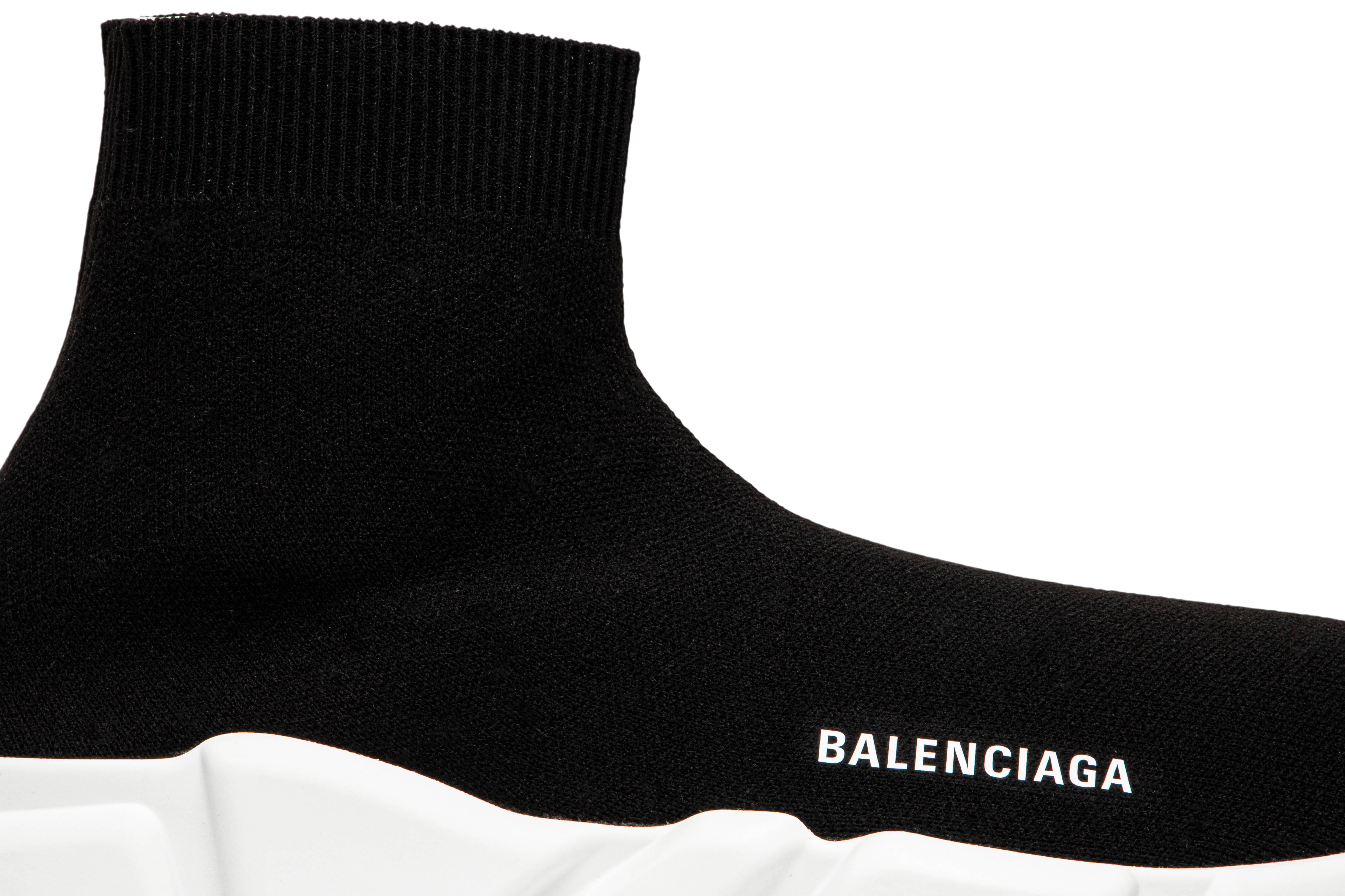 Balenciaga Speed Trainer 'Black White