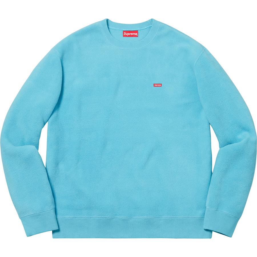 8907c5fd1ac834 Supreme Polartec Small Box Crewneck Sweatshirt Light Blue ...